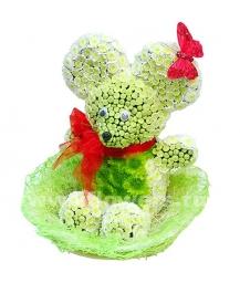 мышенок из цветов (30 см)