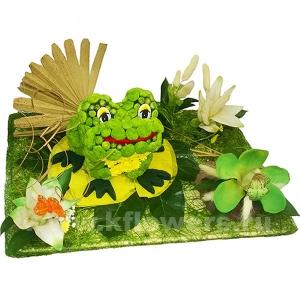 лягушка из цветов