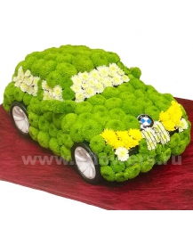 машина bmw 118i из цветов