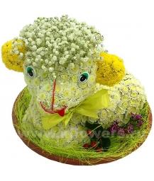 овечка из цветов