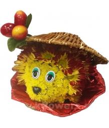 ёжик из цветов мини