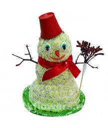 снеговик из цветов
