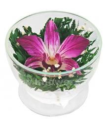 композиция из цветов в стекле 12