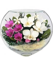 композиция из цветов в стекле 15