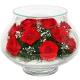 композиция из цветов в стекле 17