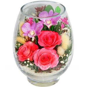 композиция из цветов в стекле 18