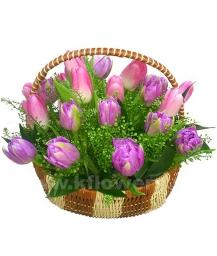 Корзина цветов 39