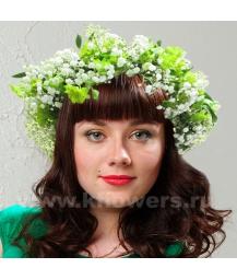 Венок из цветов на голову 13