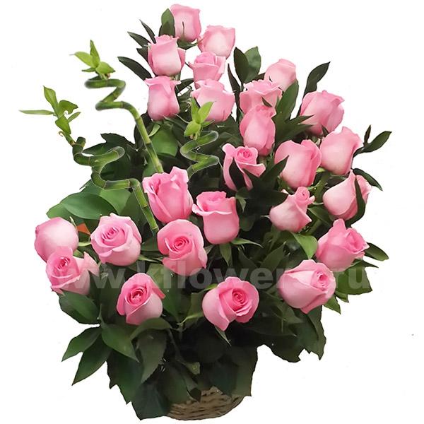 Корзина цветов 41