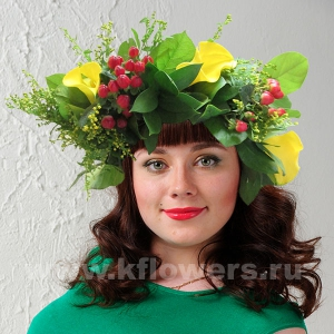 Венок из цветов на голову 15