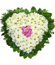 Композиция цветов сердце 28