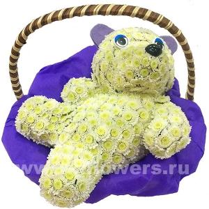 медвежонок Умка из цветов