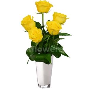 Букет цветов каскадный 30