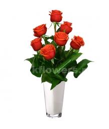 Букет цветов каскадный 31