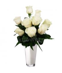 Букет цветов каскадный 32