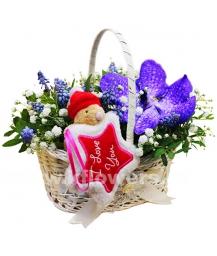 Корзина цветов 42