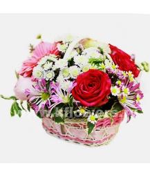 Корзина цветов 43