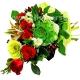 Букет цветов каскадный 33