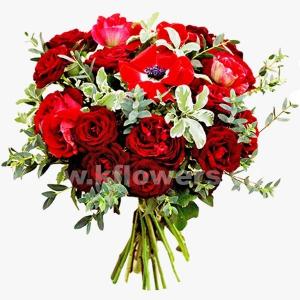 Букет цветов европейский 25