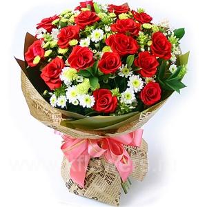 Букет цветов азиатский 13