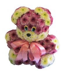 медвежата(25-30см) из цветов