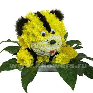 тигрёнок из цветов