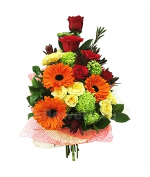 Букет цветов каскадный 14