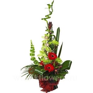Букет цветов каскадный 15
