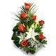 Букет цветов каскадный 16