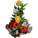 Букет цветов каскадный 17