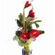 Букет цветов каскадный 20