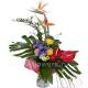 Букет цветов каскадный 21