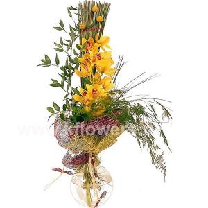 Букет цветов каскадный 24