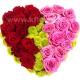 Композиция цветов сердце 14