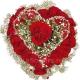 Композиция цветов сердце 21