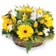 Корзина цветов 11