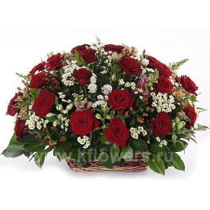 Корзина цветов 15