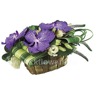 Корзина цветов 16