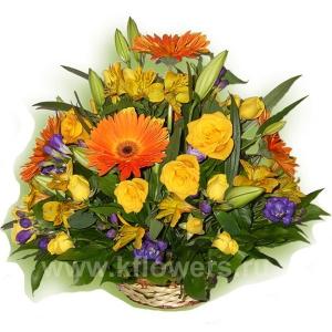 Корзина цветов 20