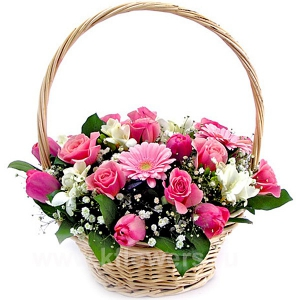 Корзина цветов 21