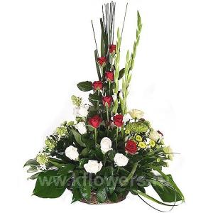Корзина цветов 22