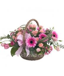 Корзина цветов 25