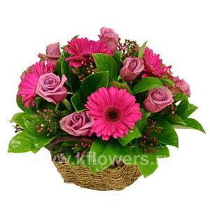 Корзина цветов 26