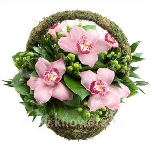 Корзина цветов 28
