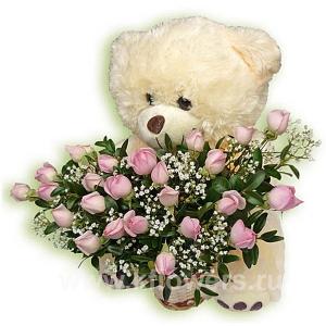 Цветы и мягкие игрушки с доставкой доставка цветов в городе старый оскол