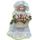 Кукла(40 см) с букетом