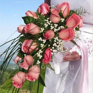 Букет невесты каскадный 12