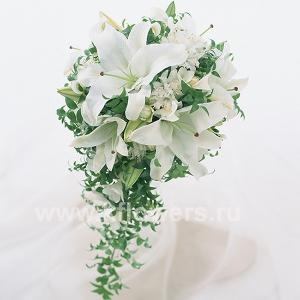 Букет невесты каскадный 15
