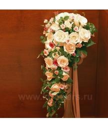 Букет невесты каскадный_16