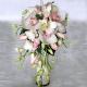 Букет невесты каскадный 19